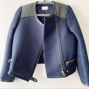 CLUB MONACO | Kaylan Moto Navy Jacket